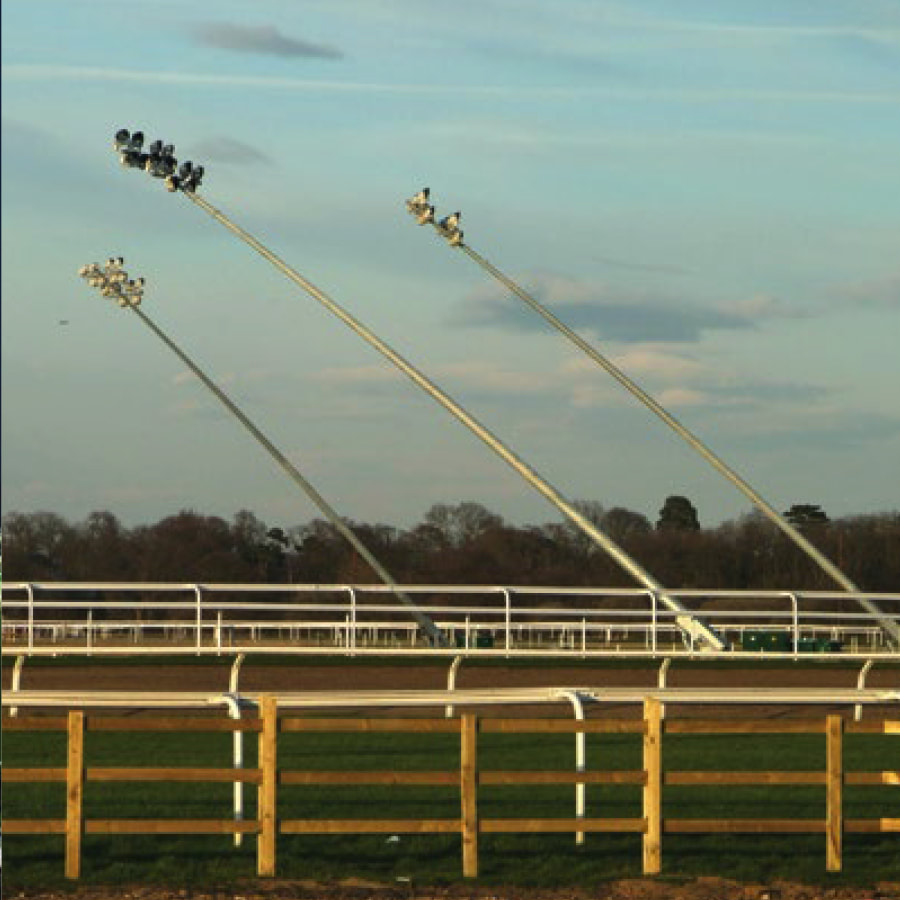 Sports grounds ovals and courts AAA-Lux LED High Powered lighting contractor installer Perth WA Light Pole Installation