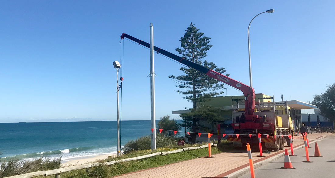 Commercial Industrial Sports Lighting Maintenance Repair Light Poles Perth WA